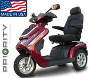 Luxurious Three Wheeled Big Sized Dual Seat Scooter